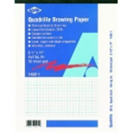 Alvin Quadrille Medium-Weight Drawing Paper, White, Pack Of 100