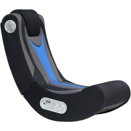X Rocker Fox 2.1 Wireless Gaming Chair Rocker, Black/Blue, 5171401