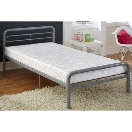 Value 6 Inch Twin Polyester Filled Mattress with Jacquard Cover