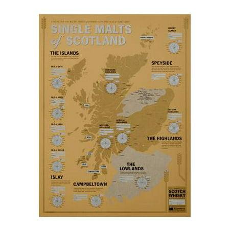 Single Malts of Scotland: Scotch Tasting Map Paperback