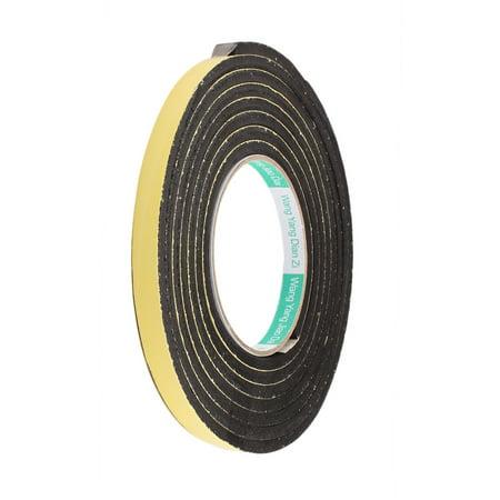 12mm Width 5mm Thickness Single Side Shockproof Sponge Foam Tape 3 Meter Length