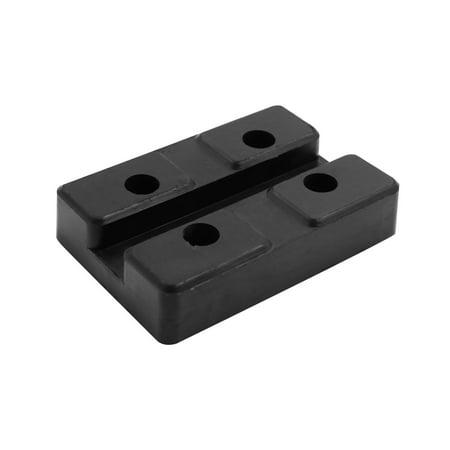 Truck Hoists (Black Square Medium Size Universal Rubber Car Lift Pad for Auto Truck Hoist)
