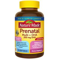 Nature Made Prenatal Multivitamin + DHA Softgels, 115 Count to Support Babys Development