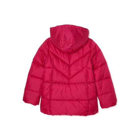 Wonder Nation Girls Bubble Puffer Jacket, sizes 4-18 & Plus