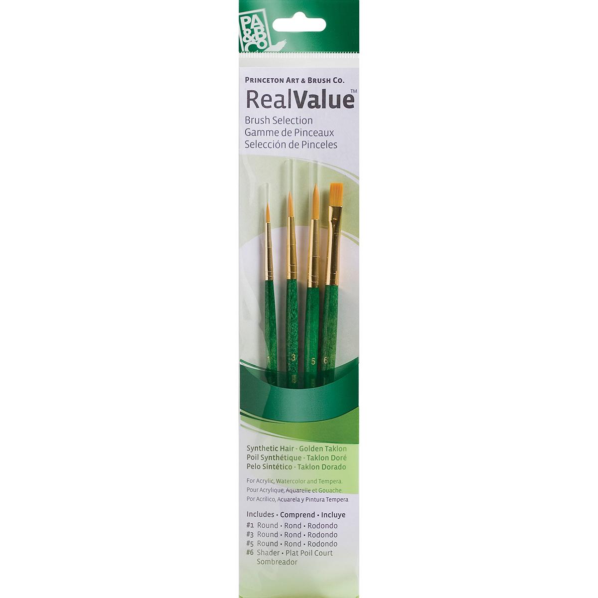 Gold Taklon Real Value Brush Set-4/Pkg - image 1 of 1