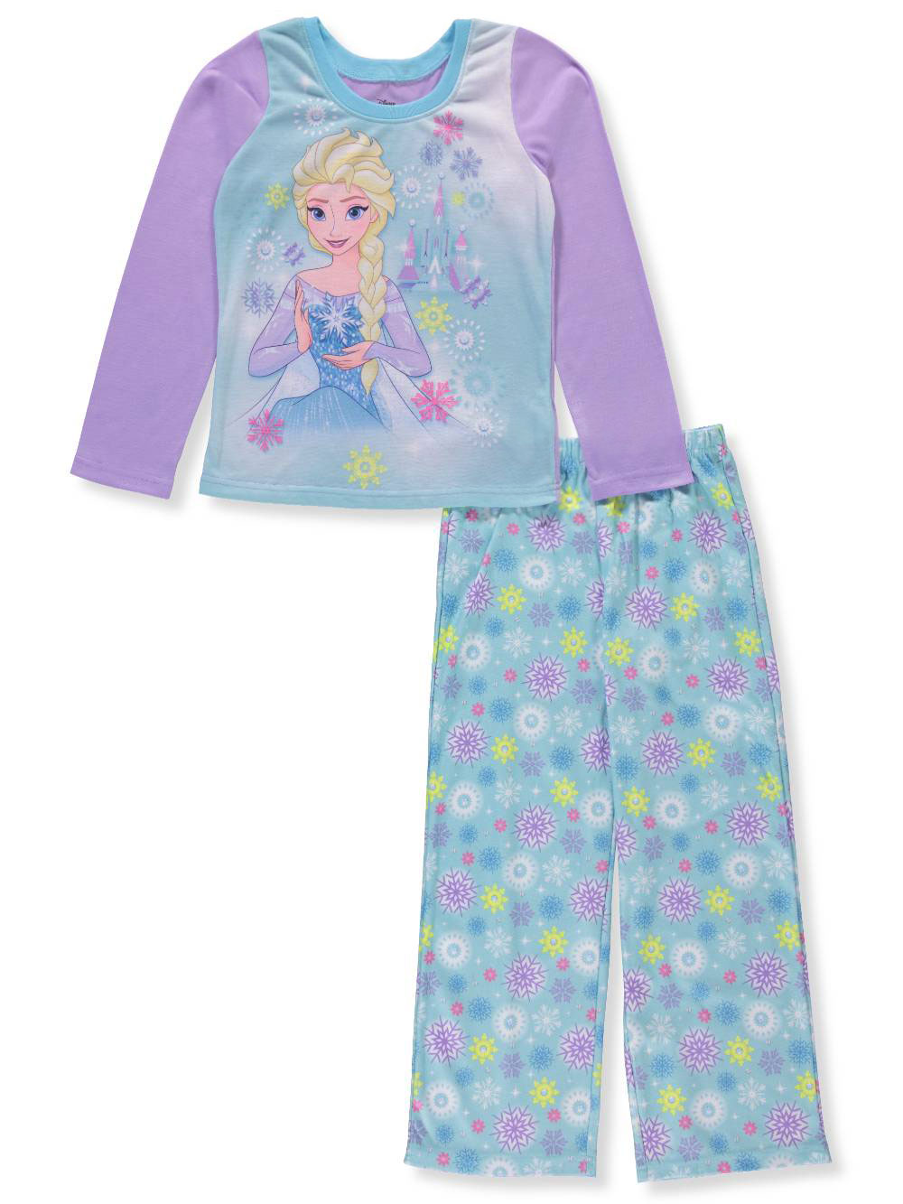 Disney Frozen Girls' 2-Piece Pajamas Featuring Elsa