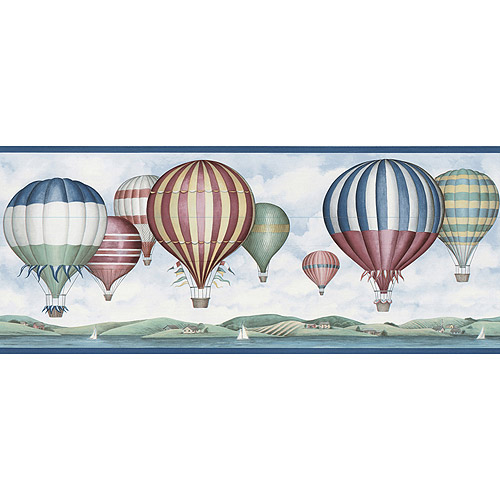 hotair balloon wallpaper border walmartcom