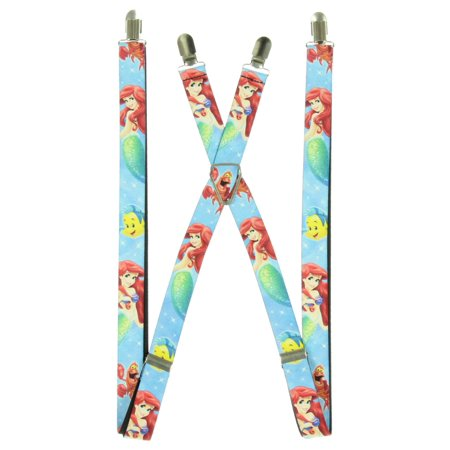 Little Mermaid - Ariel, Flounder & Sebastian Sparkle Suspenders - Sparkle Suspenders