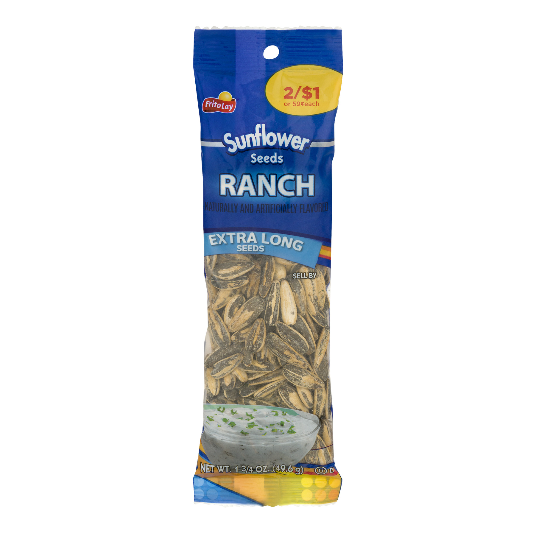 Frito-Lay Sunflower Seeds Ranch Extra Long Seeds, 1.75 OZ