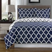 Meridian 100-Percent Cotton Reversible Duvet Covers Set Contemporary Geometric Pattern Print 250 Thread Count Single ply