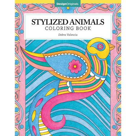 Stylized animals coloring book Coloring book walmart