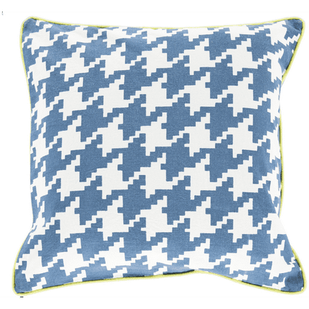 Light Blue Patterned Throw Pillow : Light Blue, Ivory and Bright Green Hounds Tooth Decorative Throw Pillow - Walmart.com