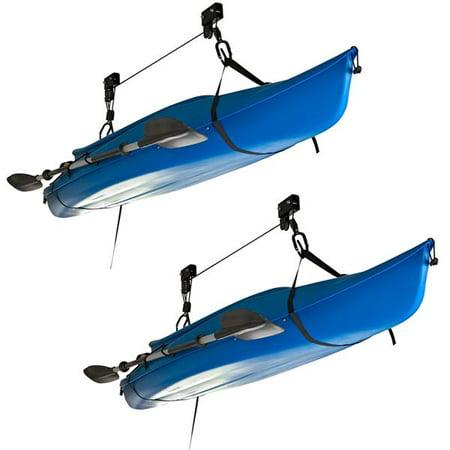 Kayak Hoist System (Apex Kayak and Canoe Overhead Storage Hoist - 2 Pack )