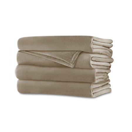 Velvet Plush Electric Blanket (King) Mushroom - Sunbeam