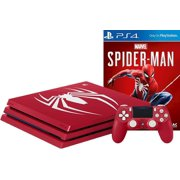 Sony Playstation 4 PRO Limited Edition Marvel's Spider-Man Amazing Red 1TB Gaming Console with Limited Edition Dualshock 4 Wireless Controller and Marvel's Spider-Man Game Disc