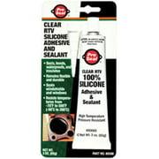 PRO SEAL 80066 RTV Silicone Sealant,3 oz Tube,Clear
