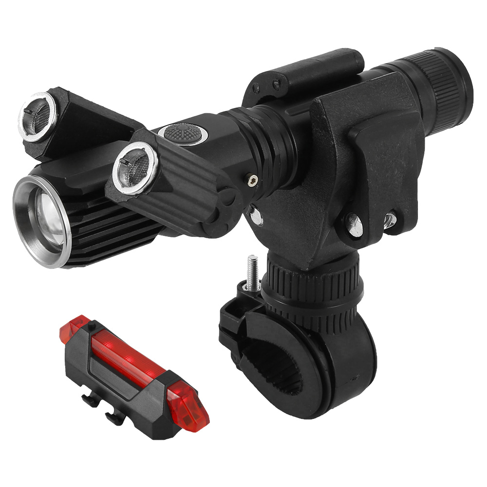 Bicycle Torch Rechargeable LED Mountain Bike Lights Rear Lamp 18650 Front /& Sets