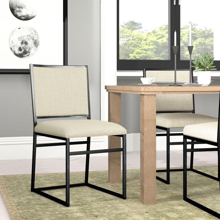 Industrial Metal Dining Chair Brown - Homepop®