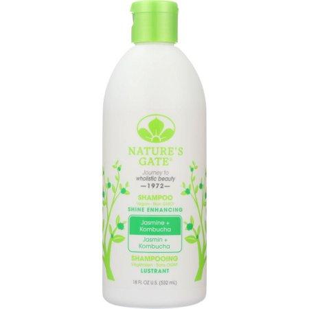 Nature's Gate Shine Enhancing - Jasmine + Kombucha Shampoo, 18 Oz (Personal Care Natures Gate)
