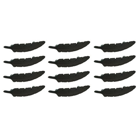 Handle 12 Piece - Rustic Brown Eagle Feather 12 Piece Cast Iron Drawer Handle Pull Set