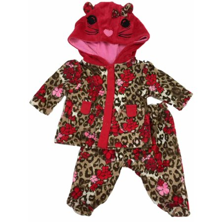 Red And Cheetah Outfits (Infant Toddler Girls Floral Cheetah Leopard Animal Print Footie Bottom)