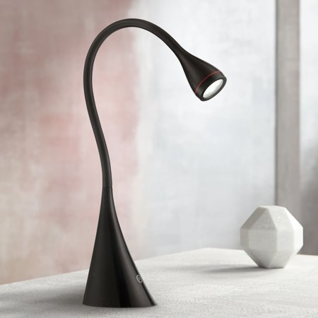 Quest Gooseneck Black LED Desk Lamp by 360 Lighting