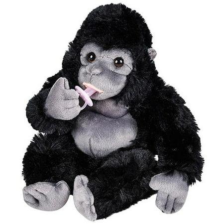 "Plush Baby Gorilla with Pacifier Stuffed Animal 8"""