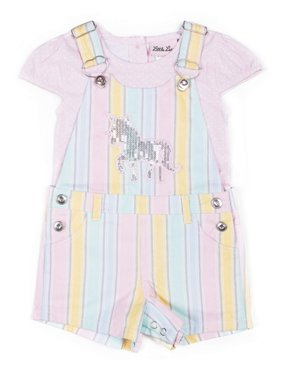 2ef360b37 Product Image Sequin Unicorn Shortall and Tee, 2-Piece Outfit Set (Little  Girls)