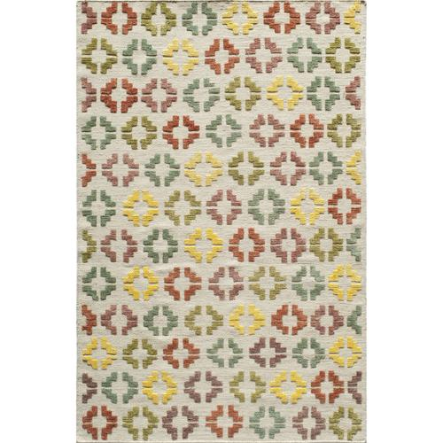 Momeni Bohemian Texture Hand-woven Ivory Geometric Rug (2' x 3') by Overstock