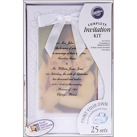 40th Wedding Anniversary Invitations - Wilton Print-Your-Own Invitations Kit The Two Of Us