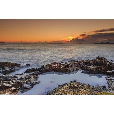Canvas Print Ocean Atlantic Ireland Coastline Landscape Sunset Stretched Canvas 10 x 14