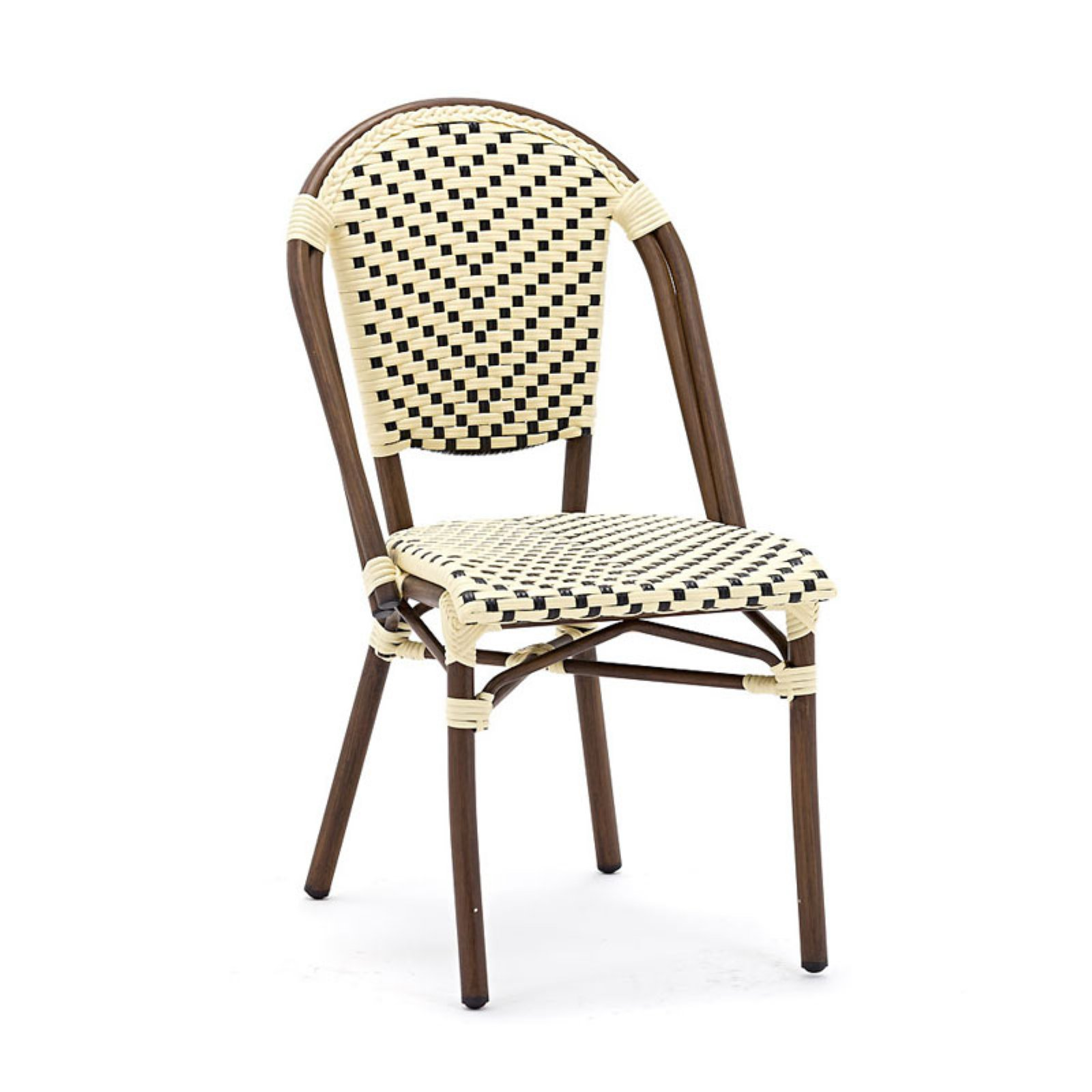 Les Lilas Aluminum Bamboo Stackable Side Chair