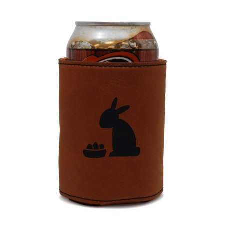 Easter Bunny Leather Can Sleeve, Beer Sleeve, Beer Cooler, Beer Hugger - Easter Goods