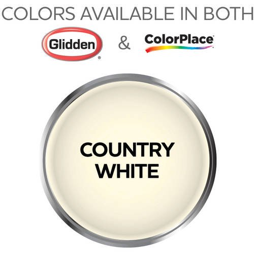 Colorplace Grab N Go Interior Paint Country White Semi Gloss Finish 1 Gallon