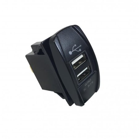Rectangular Dual USB Port - image 1 de 1