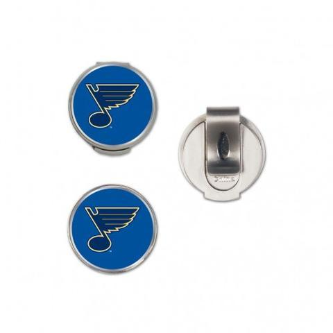NHL Officially Licensed St. Louis Blues Hat Clip and Magnetic Ball Marker