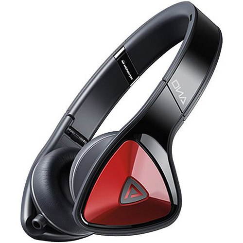 MONSTER 128485 DNA(TM) On-Ear Headphones with Microphone (Black/Red)