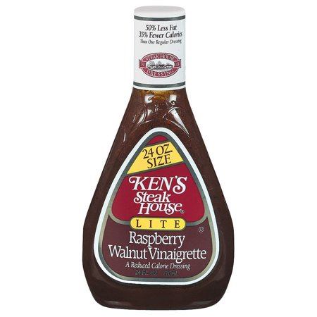 (2 Pack) Ken's Steakhouse Lite Vinaigrette, Raspberry Walnut, 24 Fl