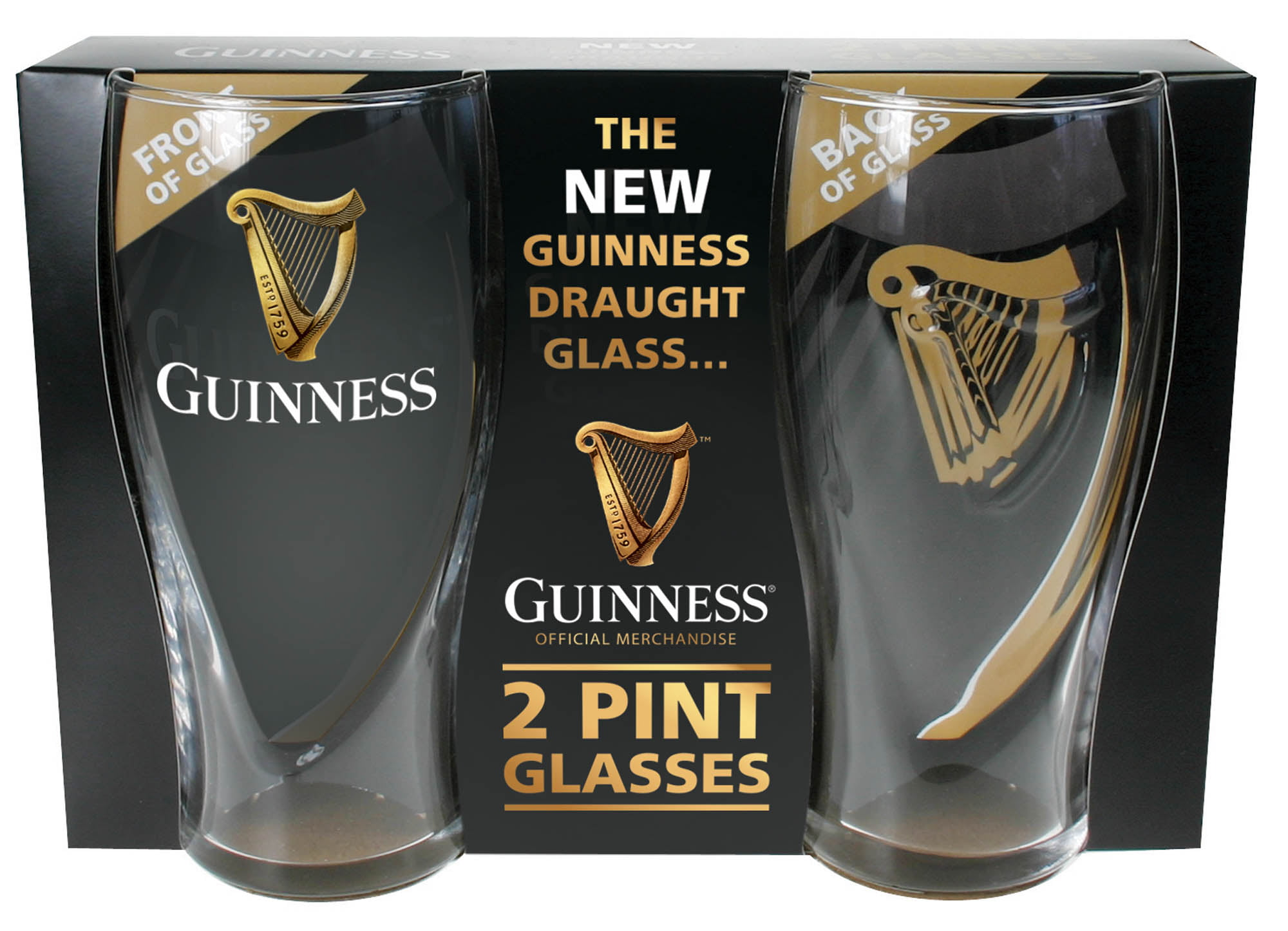FREE P/&P GUINNESS One Pint Glass Bar//Home//Collectable