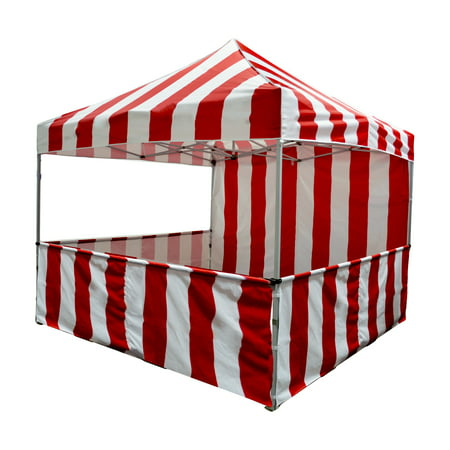 Impact Canopy Carnival Booth Kit 10'x10', Vendor Booth Red & White](Carnival Booths)