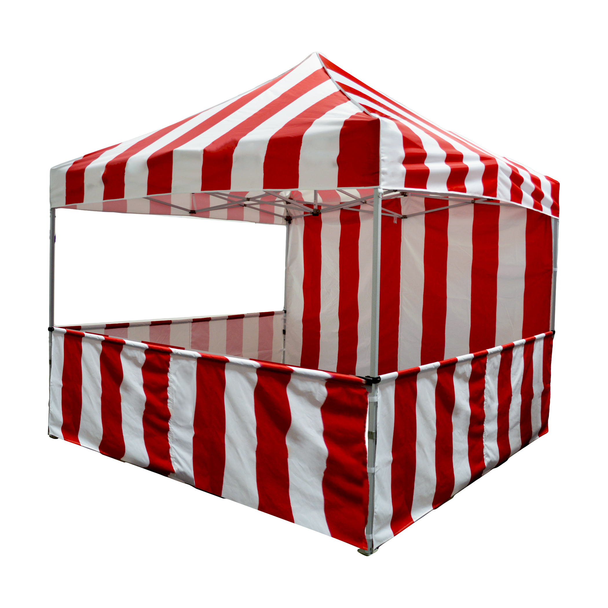 Impact Canopy Carnival Booth Kit 10'x10', Vendor Booth Red & White