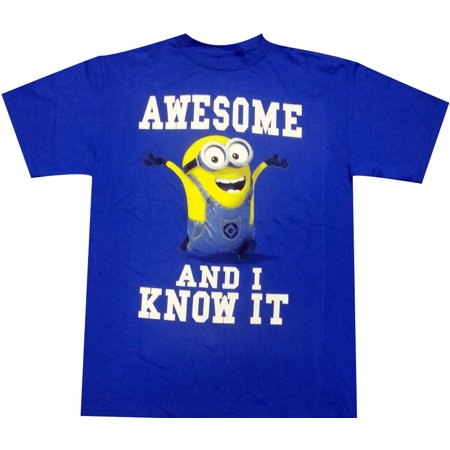 Despicable Me - Awesome And I Know It Juvy and Youth T-Shirt](Despicable Me Outfits)