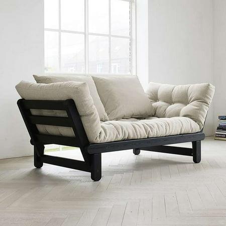 Fresh Futon Beat Black Convertible Futon Sofa