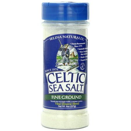 Celtic Sea Salt Fine Ground Salt Shaker, 8 Oz