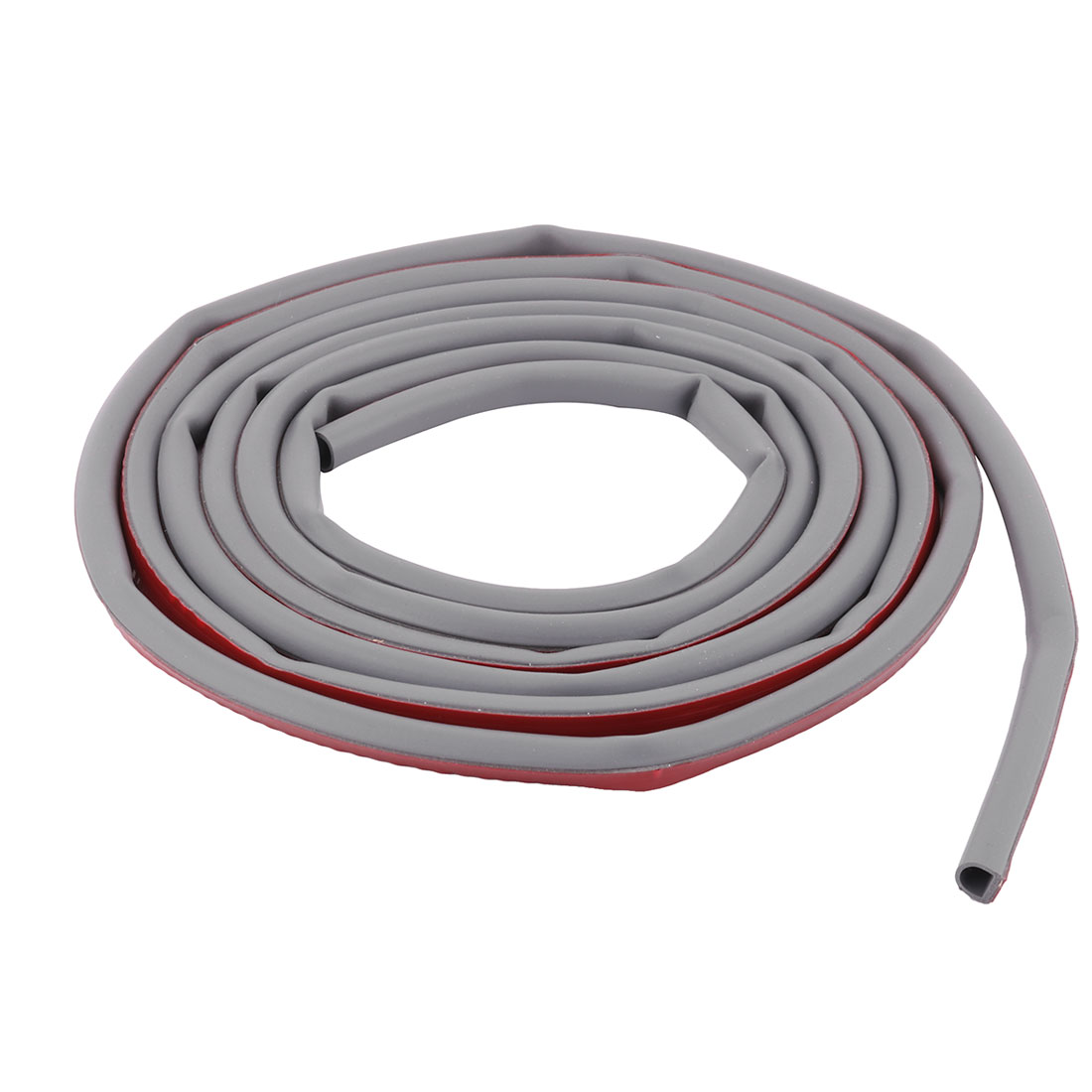 Hotel Rubber Self-Adhesive Door Window Seal Weather Strip Gray 9.8ft Length