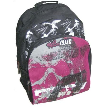 Rei Travel Pack (SK8er Club Black Red Geometric Skater Backpack School Book Bag, Travel Pack)
