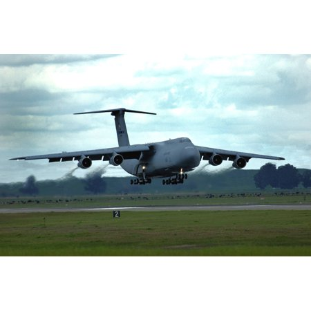 LAMINATED POSTER 21st Airlift Squadron Lockheed C-5B Galaxy 87-0037 returns from a training flight March 31 2006. The Poster Print 24 x 36 (Galaxy Trainer)