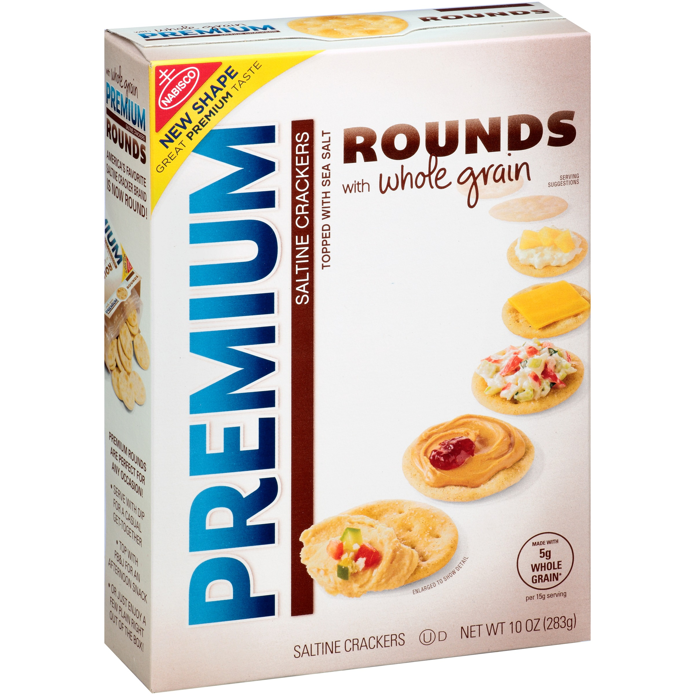 Nabisco Premium Rounds Whole Grain Saltine Crackers, 10 oz