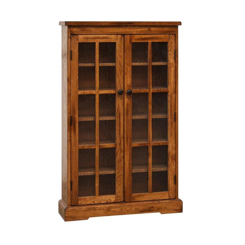 Sunny Designs Sedona CD DVD Media Storage Cabinet in Rustic Oak