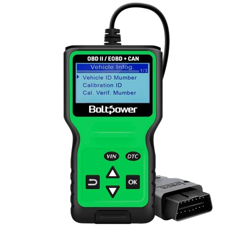Bolt Power OBD2 Scanner Code Reader, Read and Erase Fault Codes, Automotive Car Emission Monitor, Check Engine Light CAN Diagnostic OBD II Scan Tool for Japanese, European, American